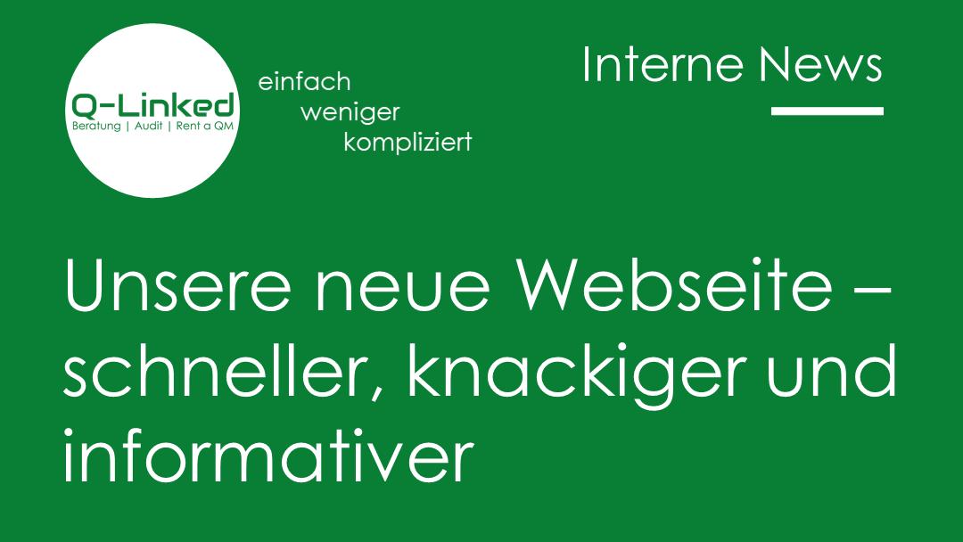 Unsere neue Website – schneller, knackiger und informativer