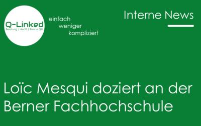 Loïc Mesqui doziert an der Berner Fachhochschule